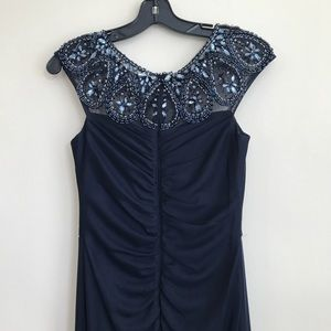 Nordstrom Dresses Nwt Xscape Embellished Beaded Navy